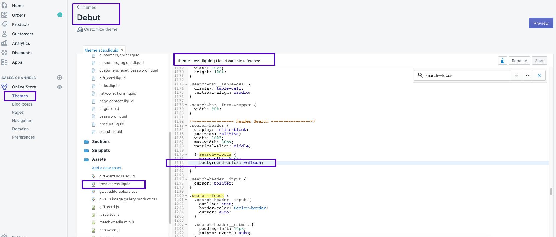 Shopify Theme CSS